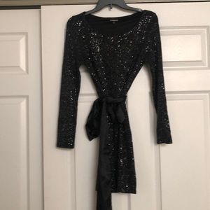 Sequin black express dress